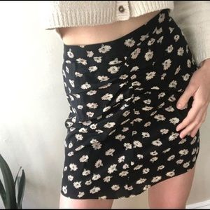 Madewell Seattle floral silk skirt size 2